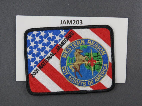 2001 National Scout Jamboree Western Region Black Border [JAM203]^^