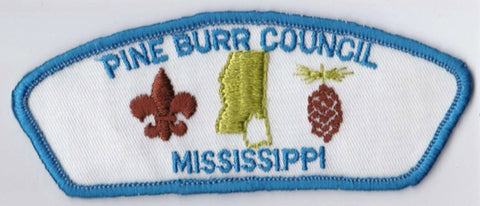 Pine Burr Council MS Blue Border Cloth Backing FDL CSP ## CSP1061