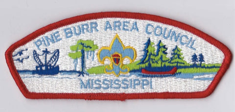 Pine Burr Area Council MS Red Border Plastic Backing FDL CSP ## CSP1062
