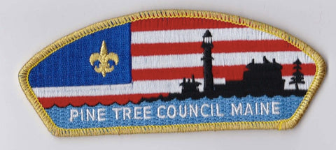 Pine Tree Council ME Gold Mylar Border Plastic Backing FDL CSP ## CSP1065