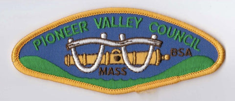 Pioneer Valley Council MA Yellow Border Plastic Backing BSA CSP ## CSP1067