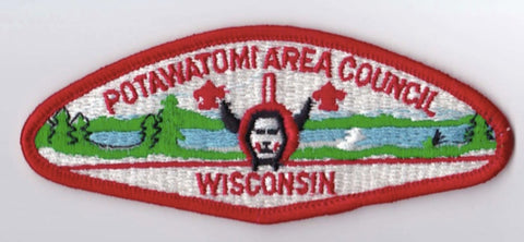 Potawatomi Area Council WI Red Border Plastic Backing FDL CSP ## CSP1073