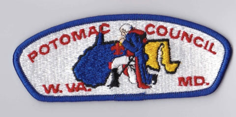 Potomac Council W.VA & MD Blue Border Plastic Backing FDL CSP ## CSP1074