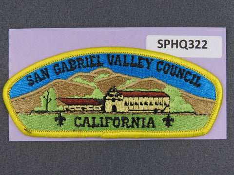 San Gabriel Valley Council California Yellow Border - Scout Patch HQ