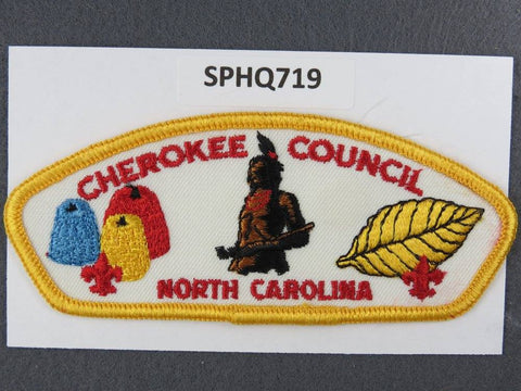 Cherokee Council North Carolina CSP Yellow Border - Scout Patch HQ