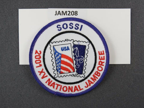 2001 National Scout Jamboree SOSSI Purple Border [JAM208]^^