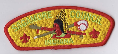 Sagamore Council IN Red Border Plastic Backing FDL CSP ## CSP1117