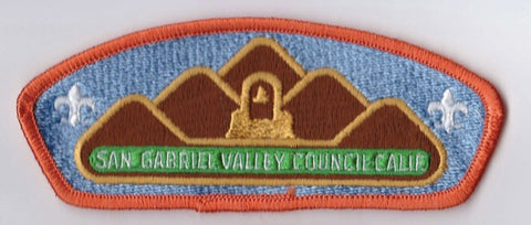 San Gabriel Valley Council CA Orange Border Plastic Backing FDL CSP ## CSP1139