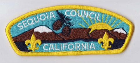 Sequoia Council CA Yellow Border Plastic Backing FDL CSP ## CSP1154