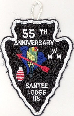 #116 Santee Lodge A4 55th Anniversary 1993 Issue - Scout Patch HQ