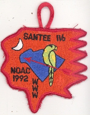 #116 Santee Lodge X1 NOAC Delegate 1992 Issue - Scout Patch HQ