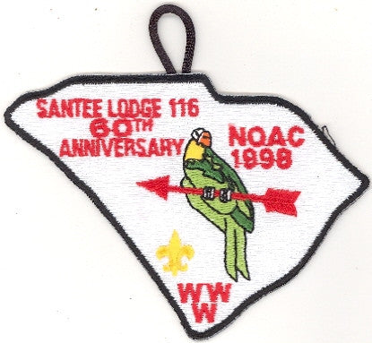 #116 Santee Lodge X4 NOAC Delegate 1998 Issue - Scout Patch HQ