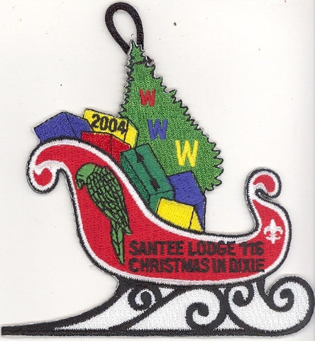 #116 Santee Lodge X6 Dixie Delegate Sleigh 2004 Issue - Scout Patch HQ