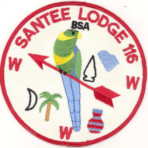 #116 Santee Lodge J1 Twill Jacket Patch 1977 Issue - Scout Patch HQ