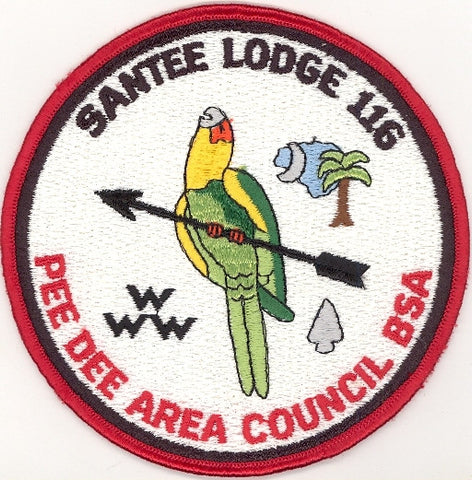 #116 Santee Lodge J2 Black Arrow Jacket Patch 1986 Issue - Scout Patch HQ
