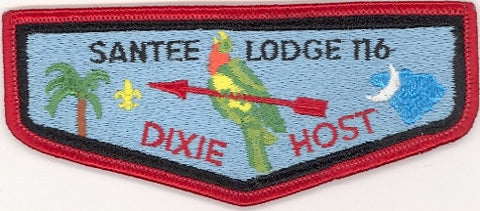 #116 Santee Lodge Flap S9 Dixie Host 1983 Issue - Scout Patch HQ