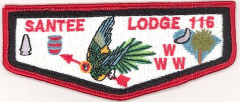 #116 Santee Lodge Flap S12a Krelman Ordeal 1995-1997 Issue - Scout Patch HQ