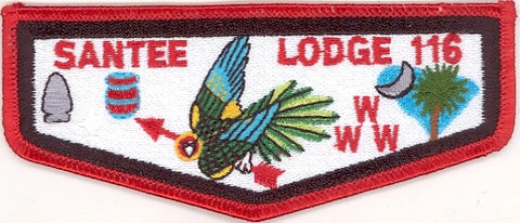 #116 Santee Lodge Flap S12b Stadri Ordeal 1997-1999 Issue - Scout Patch HQ