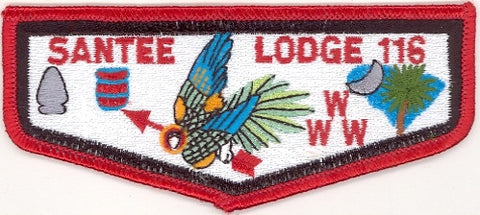 #116 Santee Lodge Flap S12c Moritz Ordeal 1999-2005 Issue - Scout Patch HQ