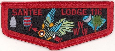 #116 Santee Lodge Flap S13b Moritz Brotherhood Clear Back Variety 1999-2005 Issue - Scout Patch HQ