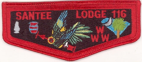 #116 Santee Lodge Flap S13a Stadri Brotherhood 1997-1999 Issue - Scout Patch HQ