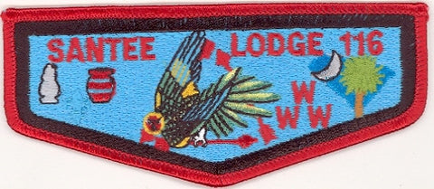 #116 Santee Lodge Flap S14a Stadri Vigil 1997-1999 Issue - Scout Patch HQ