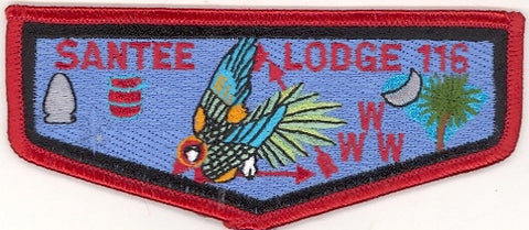 #116 Santee Lodge Flap S14b Moritz Vigil 1999-2005 Issue - Scout Patch HQ