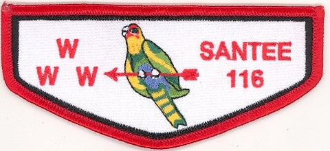 #116 Santee Lodge Flap F3b Trader Twill Right 2001 Issue - Scout Patch HQ