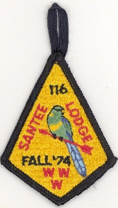 "#116 Santee Lodge 1974 Fall Fellowship ""1st Teardrop"" [CC191]"
