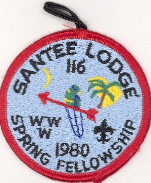 #116 Santee Lodge 1981 Spring Fellowship (error blue) [CC206]