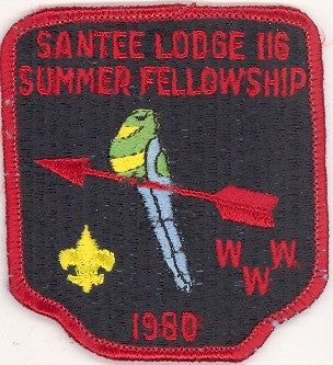 #116 Santee Lodge 1980 Summer Fellowship