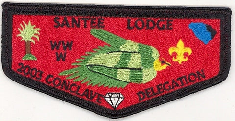 #116 Santee Lodge Flap S20 Conclave Delegation 2003 Issue - Scout Patch HQ