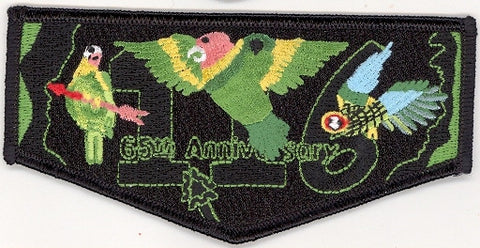#116 Santee Lodge Flap S18 Night Vision 2003 Issue - Scout Patch HQ
