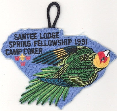 #116 Santee Lodge 1991 Spring Fellowship (black loop variety)