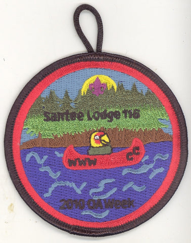 #116 Santee Lodge 2010 OA Week (red inner border) - Scout Patch HQ