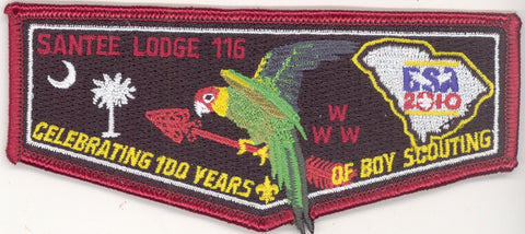 #116 Santee Lodge Flap S33 BSA 100th Anniversary 2010 Issue - Scout Patch HQ