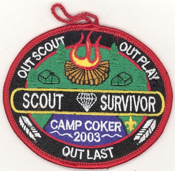 #116 Santee Lodge 2003 OA Week (red border Camp Coker)