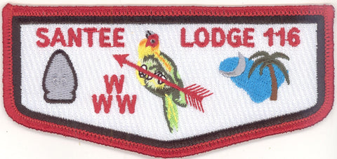 #116 Santee Lodge Flap S21b Last Ordeal 2006-2010 Issue - Scout Patch HQ