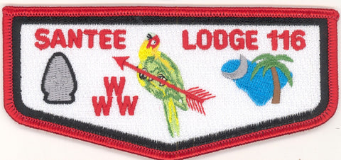 #116 Santee Lodge Flap S21a Last Ordeal 2nd Run Variety 2006-2010 Issue - Scout Patch HQ
