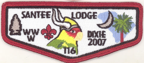 #116 Santee Lodge Flap S24 Dixie Vikings 2007 Issue - Scout Patch HQ