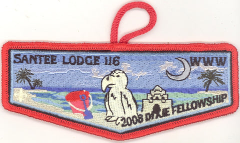 #116 Santee Lodge Flap S26 Dixie At The Beach 2008 Issue - Scout Patch HQ