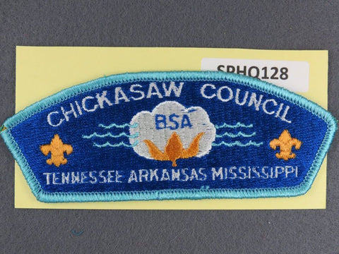 Chickasaw Council Tennessee Arkansas Mississippi CSP Teal Blue Border - Scout Patch HQ