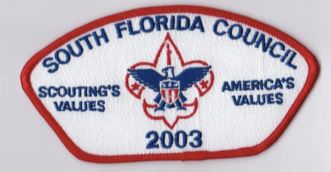 South Florida Council FL Red Border Plastic Backing FDL CSP ## CSP1200