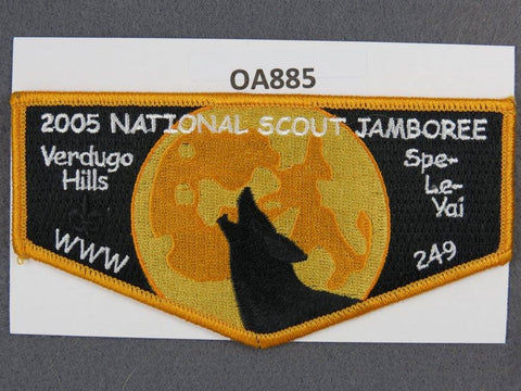 OA Lodge # 249 Spe-Le-Yai Orange Border Verdugo Hills   Flap [OA885]**