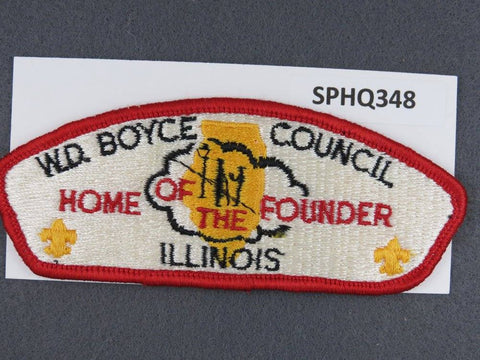 W. D. Boyce  Illinois CSP Red Border [SPHQ348]##