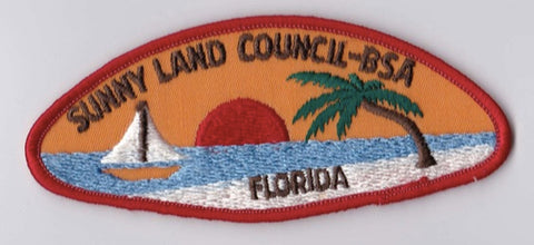 Sunny Land Council FL Red Border Plastic Backing BSA CSP ## CSP1233