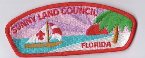 Sunny Land Council FL Red Border Plastic Backing FDL CSP ## CSP1234