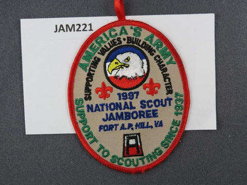 1997 National Scout Jamboree America's Army Red Border [JAM221]^^