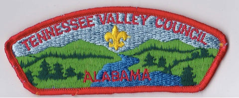 Tennessee Valley Council AL Orange Border Plastic Backing FDL CSP ## CSP1249