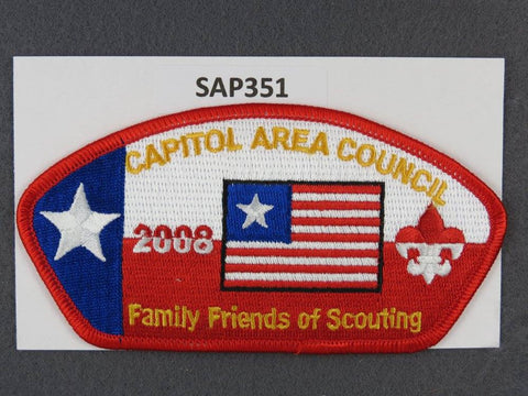 Capitol Area  CSP 2008 Family Friends of Scouting Red Border [SAP351]>>